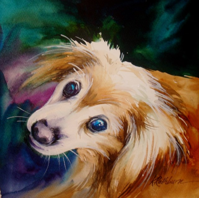 """Missy"" original fine art by Kathy Los-Rathburn"