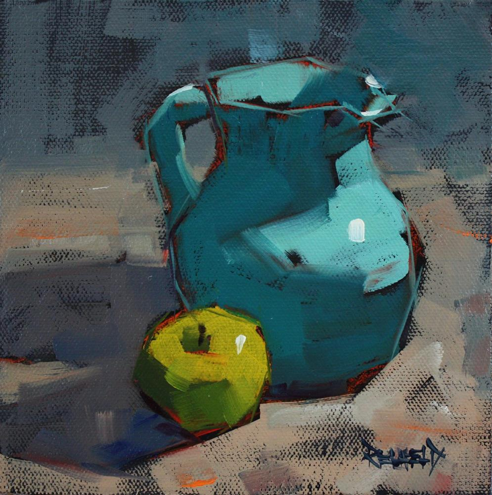 """Turquoise Pitcher"" original fine art by Cathleen Rehfeld"