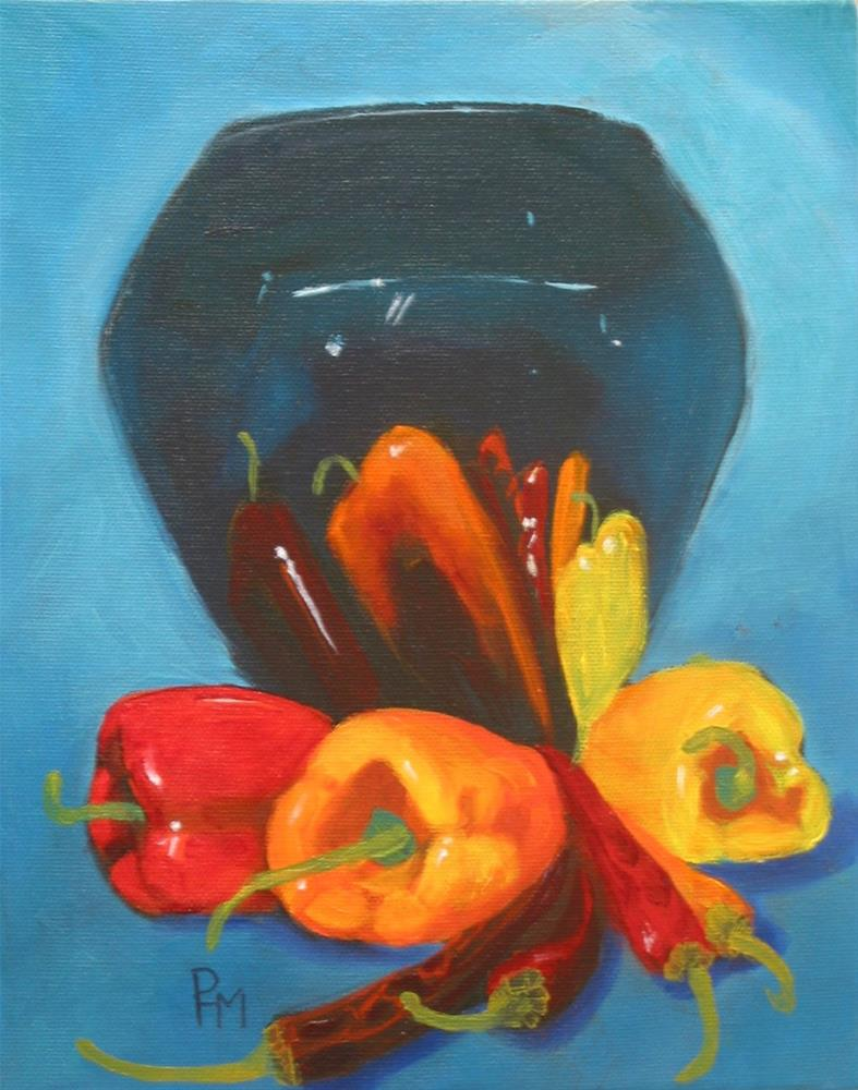 """Peppers"" original fine art by Patricia Murray"