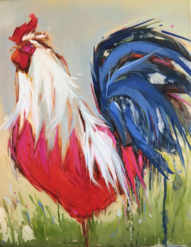 """Big Blue"" original fine art by Kathleen Broaderick"