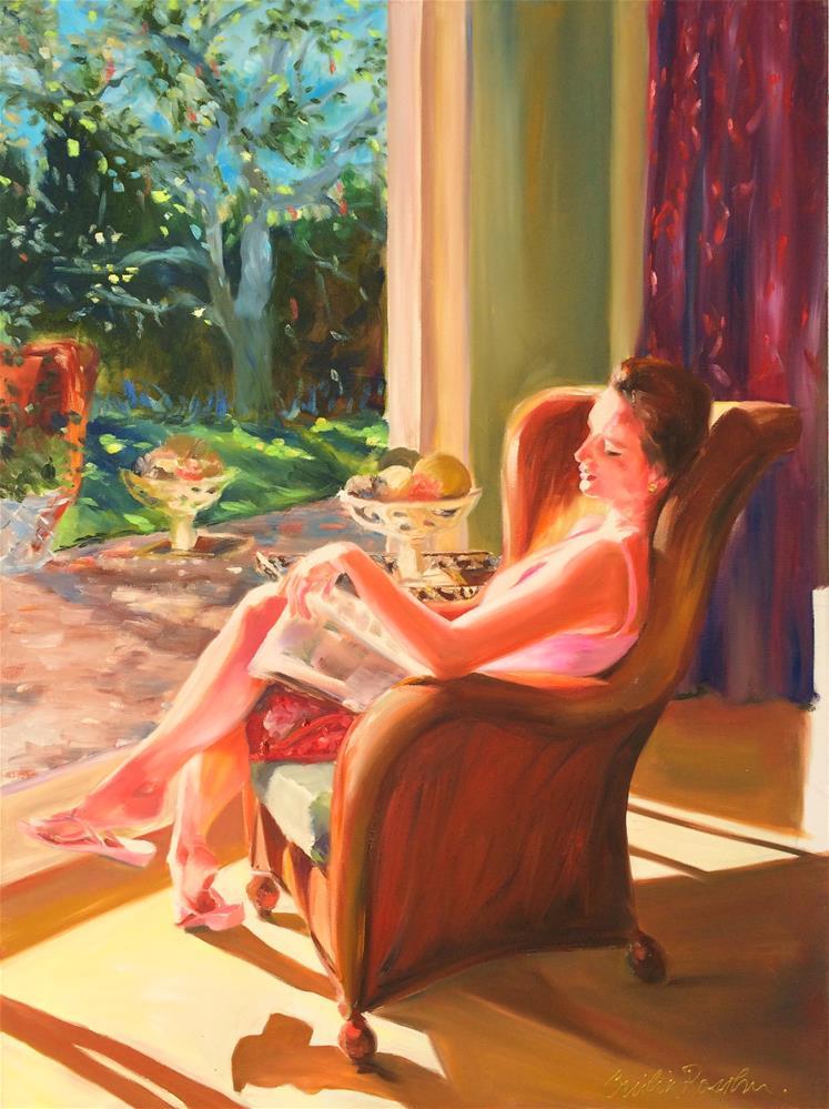 """FEW MINUTES' PEACE"" original fine art by Cecilia Rosslee"