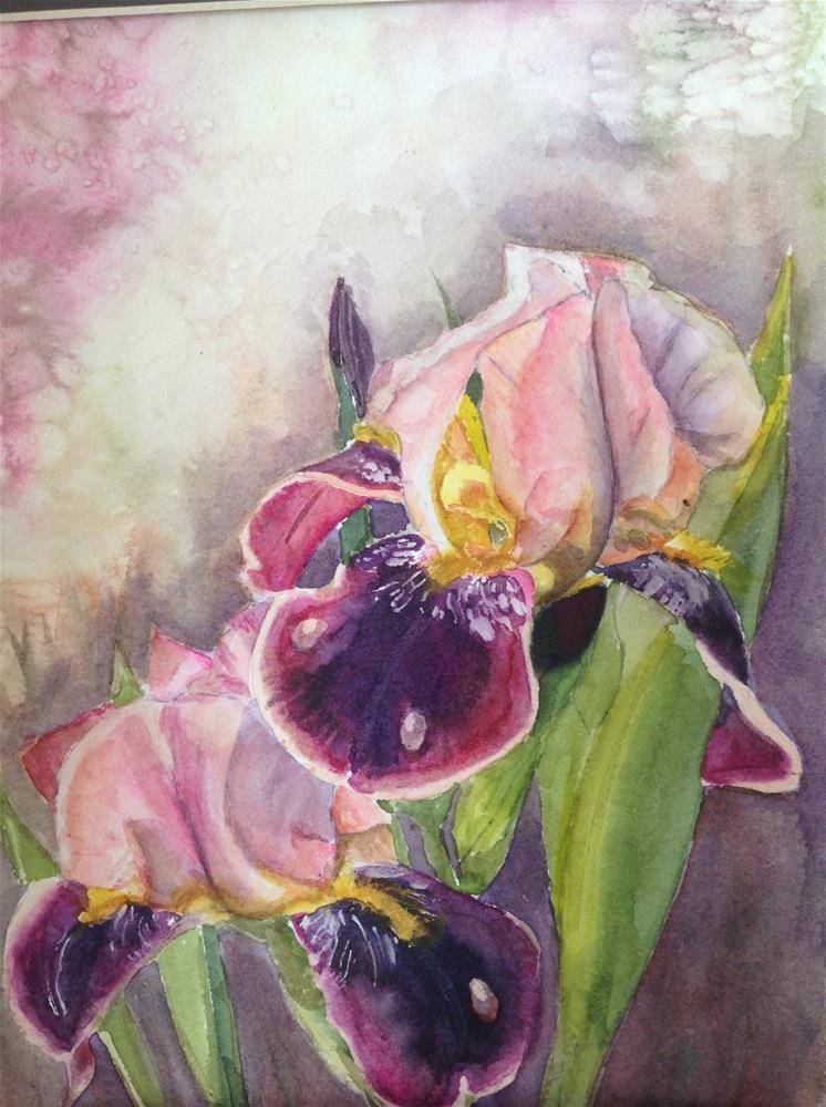 """Grandma's Iris"" original fine art by Linda Sommer"