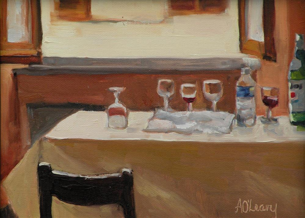 """Italian Lunch"" original fine art by Alice O'Leary"