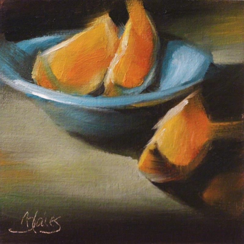 """Slice and Serve"" original fine art by Pamela Blaies"