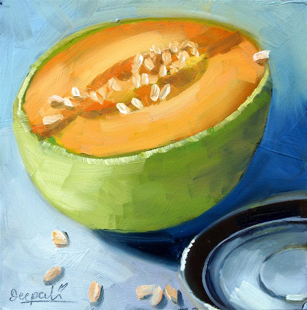 """Cantaloupe"" original fine art by Dipali Rabadiya"