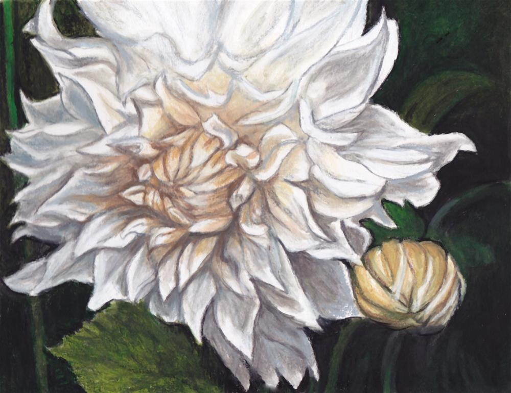 """White Flower"" original fine art by Charlotte Yealey"