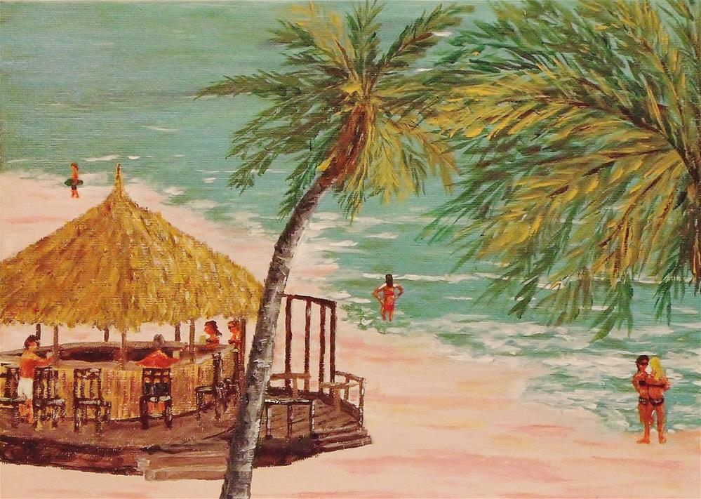 """The Tiki Bar Is Open"" original fine art by Mike Caitham"