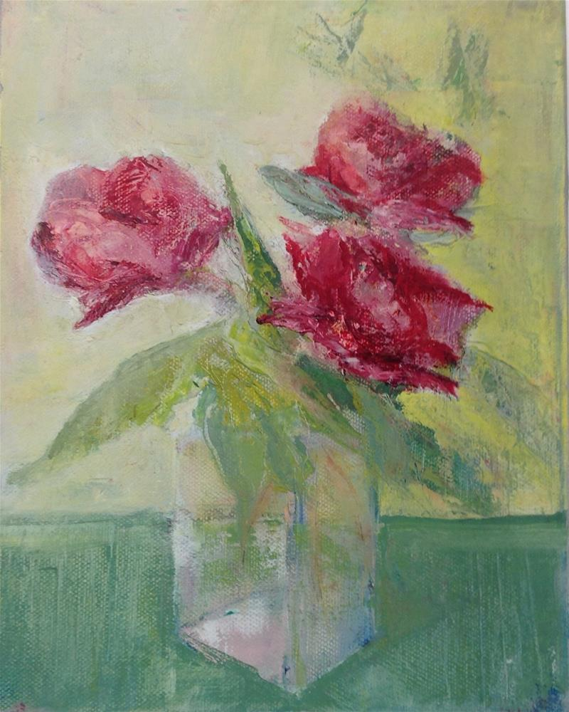 """Roses"" original fine art by Karen Pinard"