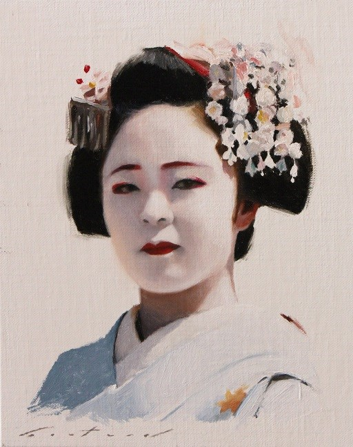 """Katsuhina Portrait"" original fine art by Phil Couture"