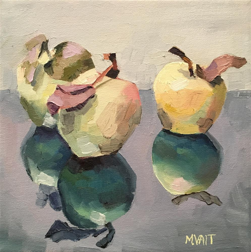 """3 Apples"" original fine art by Milda Vaitiekunaite"