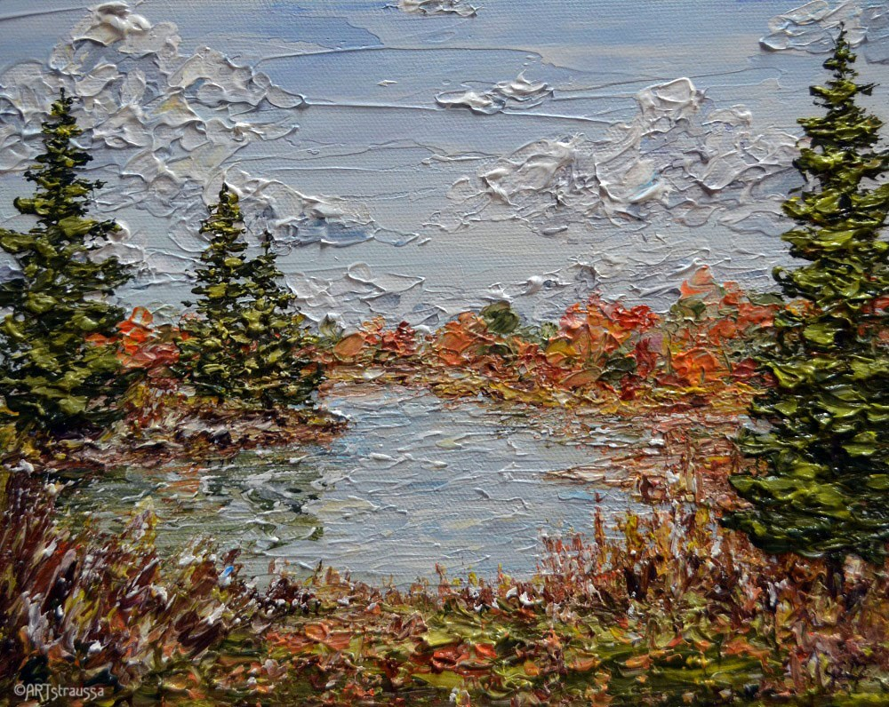 """Stohlman Pond"" original fine art by Gloria Ester"