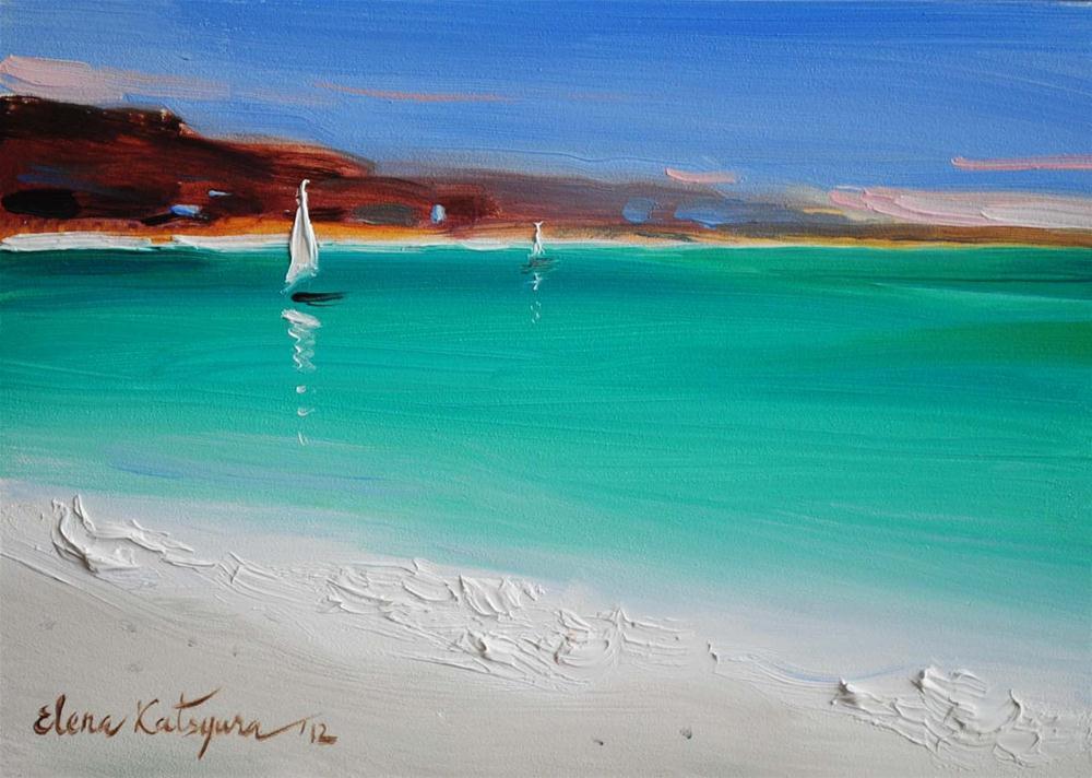 """Seaside"" original fine art by Elena Katsyura"