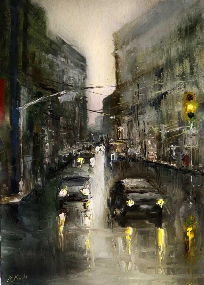 """The Intersection"" original fine art by Bob Kimball"