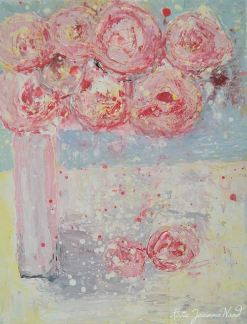 """Flower Series No 79"" original fine art by Katie Jeanne Wood"
