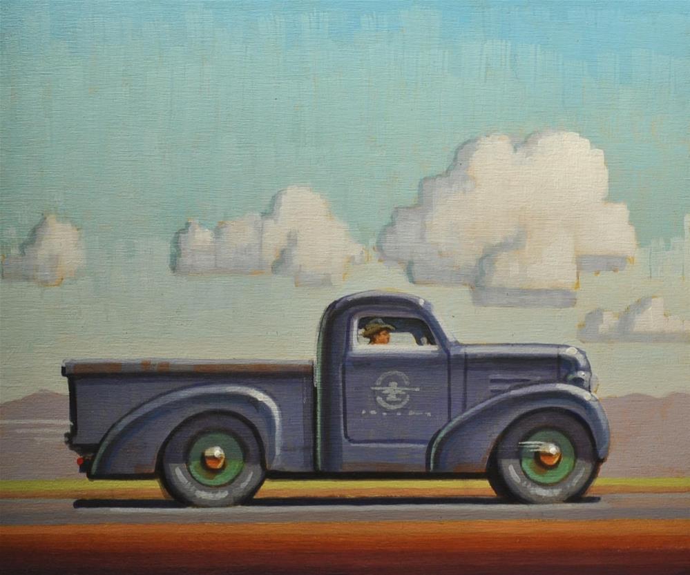 """Pick Up"" original fine art by Robert LaDuke"