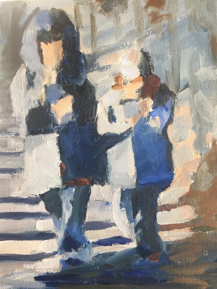 """Tiny Texters"" original fine art by Libby Gilpatric"