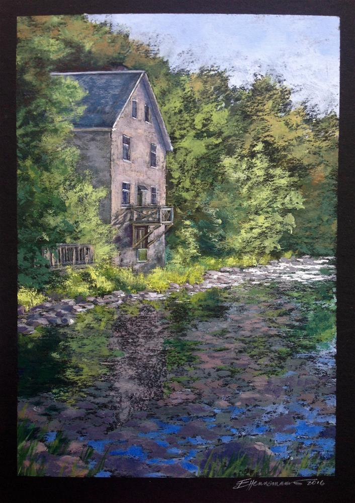 """Mill of Kintail  /  13.5H x 9.5W"" original fine art by Eileen Hennemann"