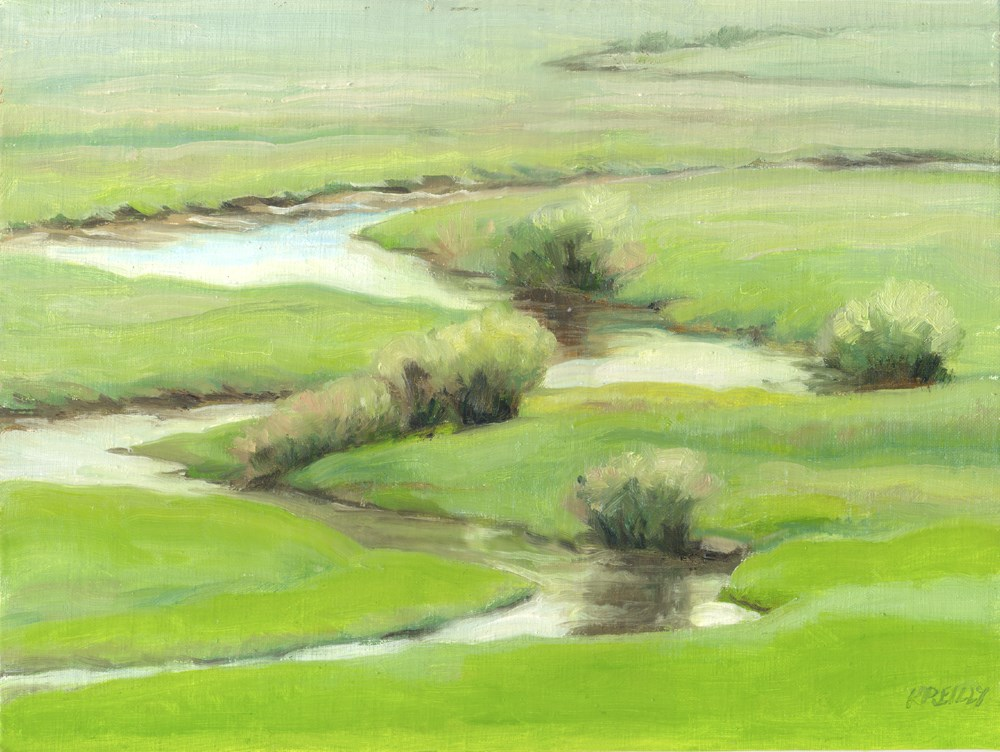 """North Park Stream"" original fine art by Kath Reilly"
