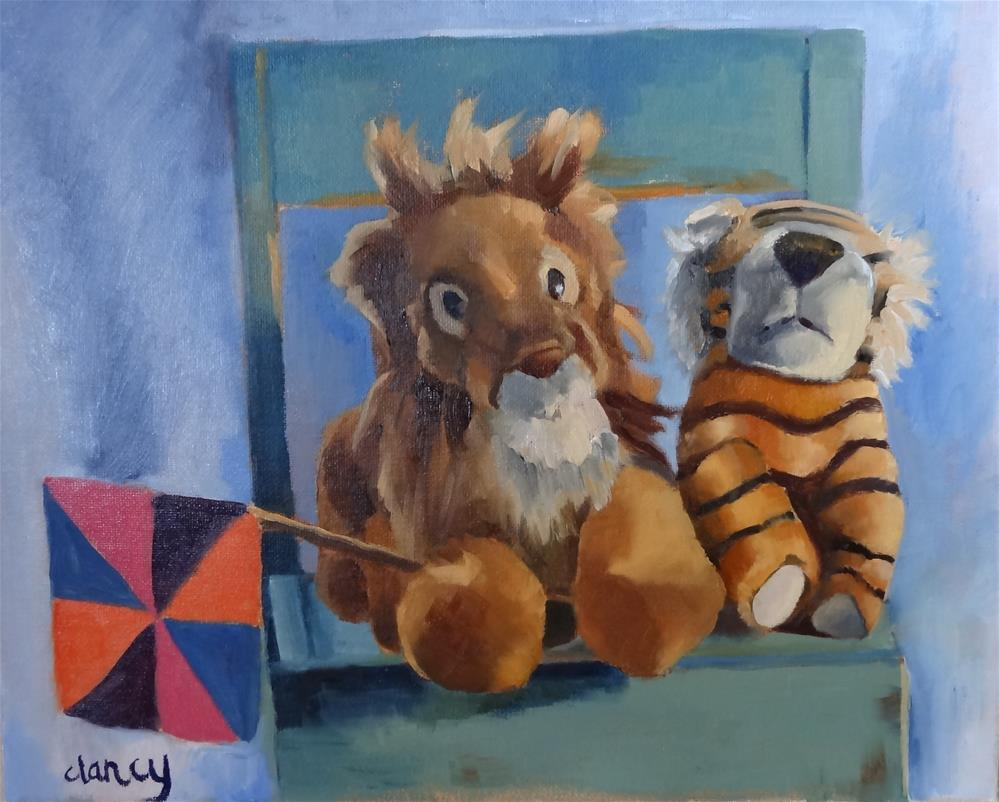 """Hanging With My Bestie"" original fine art by Catherine Clancy"