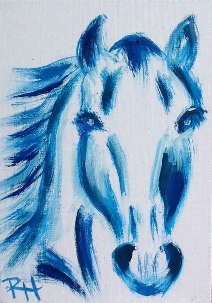 """Blue Beauty"" original fine art by Rachel  Holland"