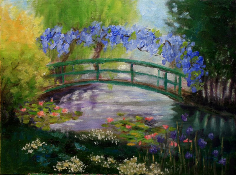 """Giverney Spring"" original fine art by Jean Nelson"