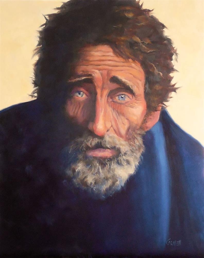 """""""Broken, 16x20 Oil on Canvas Portrait"""" original fine art by Carmen Beecher"""