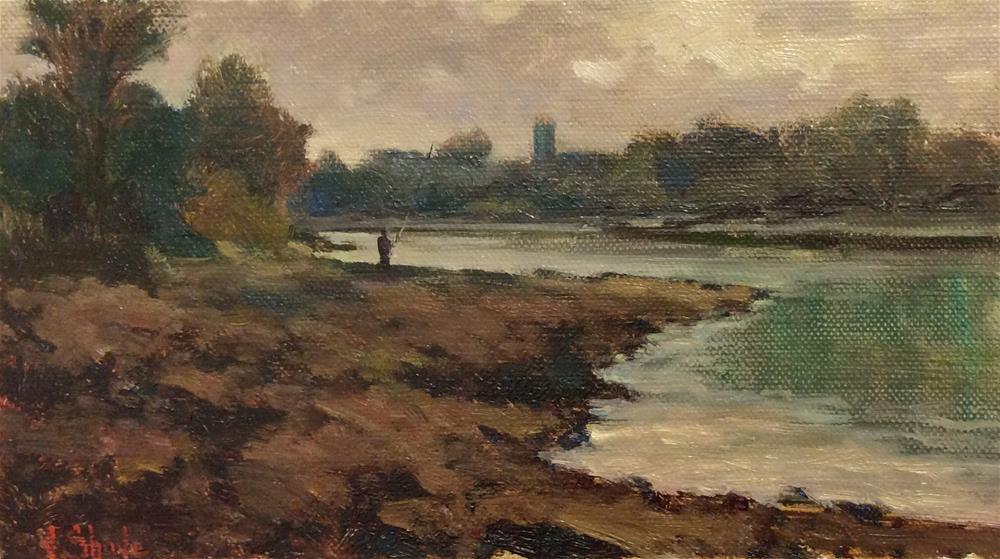"""A Days Fishing"" original fine art by John Shave"