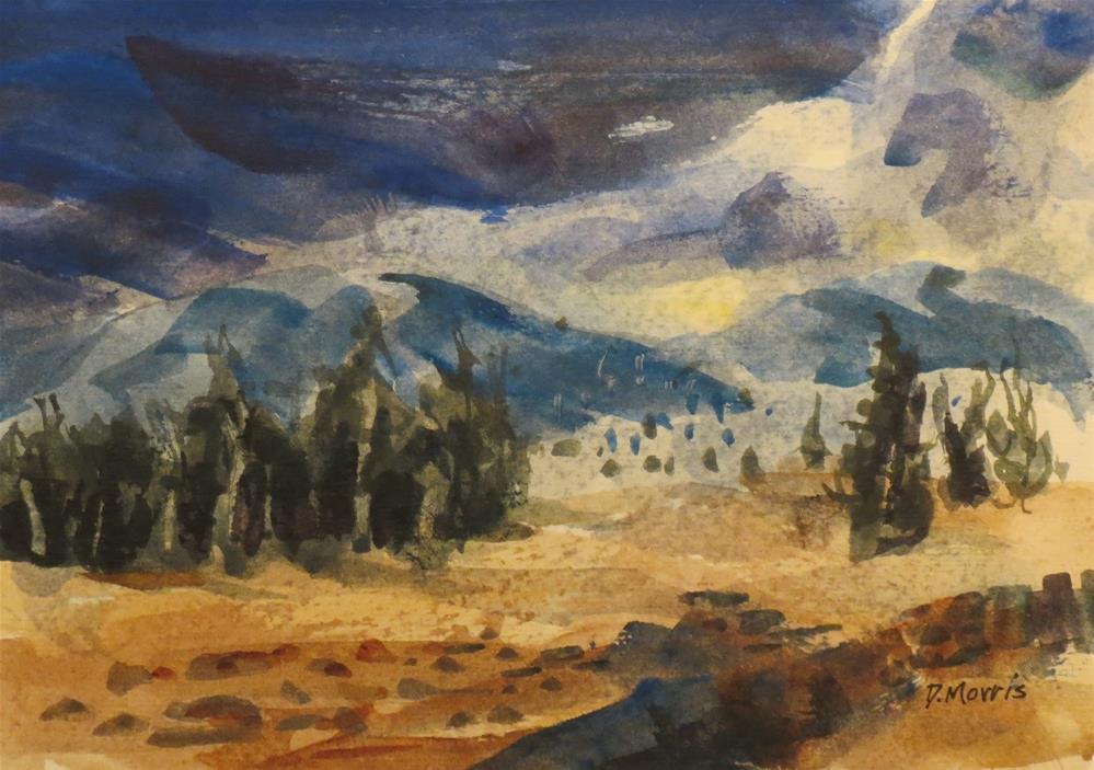 """Stormy Mountain Morning"" original fine art by Dann Morris"