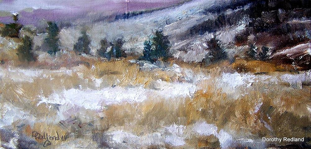 """FOREVER WINTER"" original fine art by Dorothy Redland"