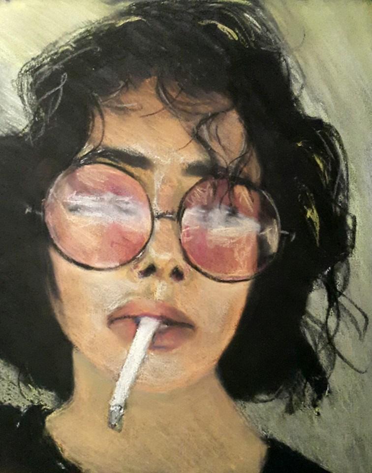"""Cool gal"" original fine art by Rentia Coetzee"