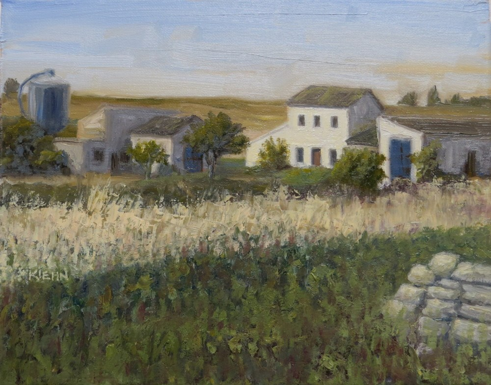 """Spanish Farmhouse"" original fine art by Richard Kiehn"