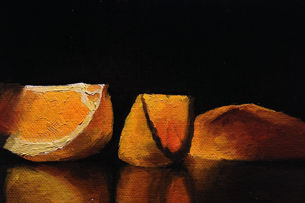 """The Light Through An Orange Slice"" original fine art by Chris Beaven"