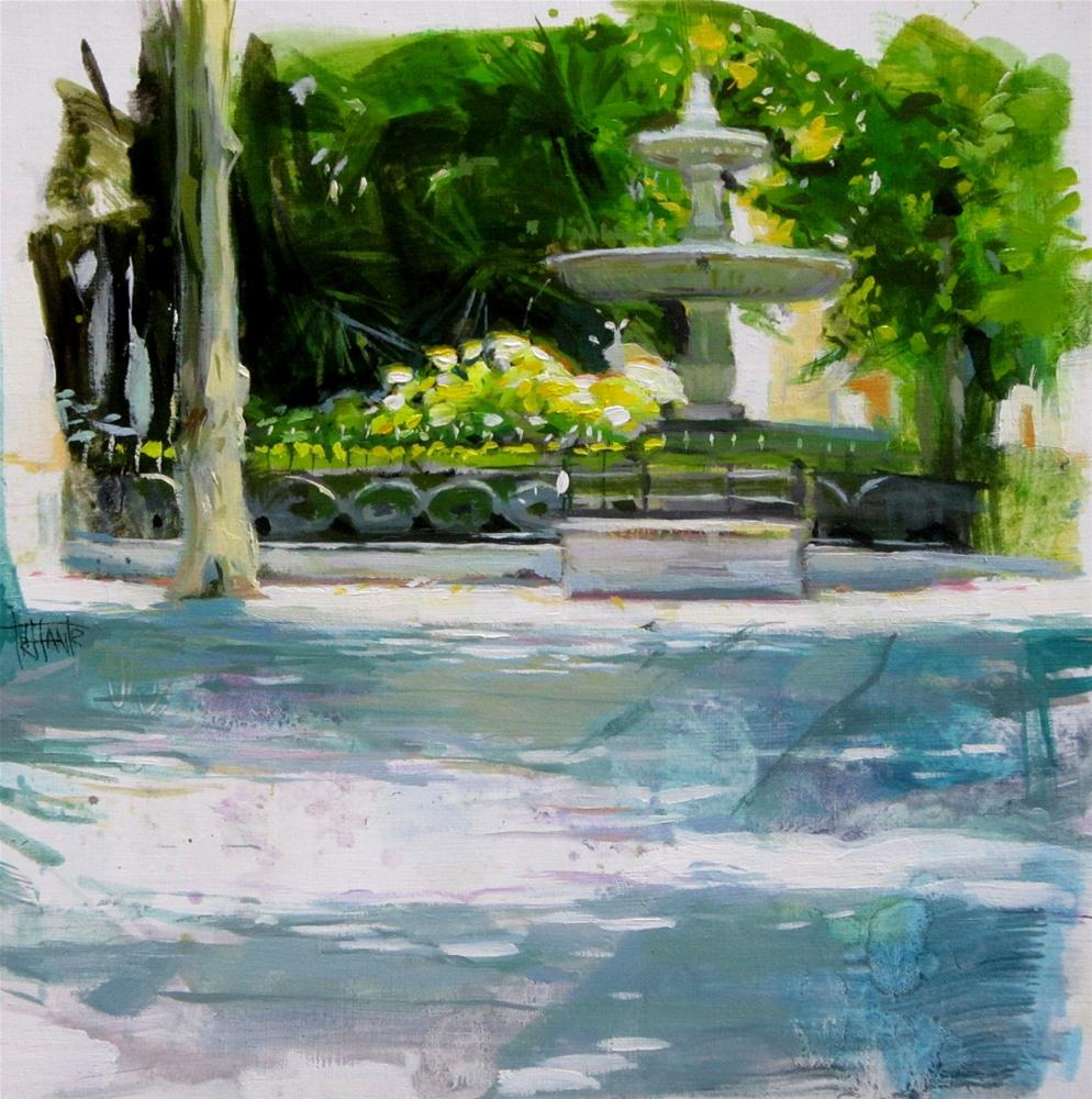 """""""Plaza de la trinidad"""" original fine art by Víctor Tristante"""