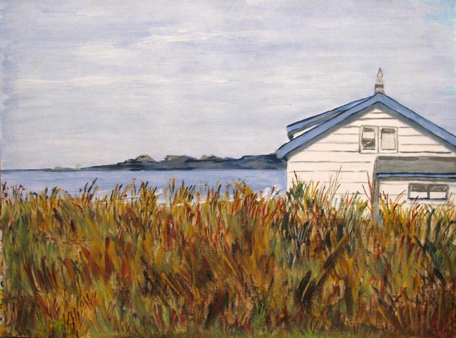 """By The Coast"" original fine art by Nan Johnson"
