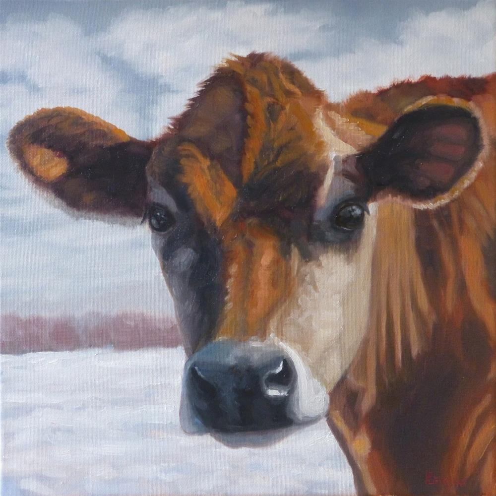 """""""Waiting for Hay"""" original fine art by Peter Lentini"""