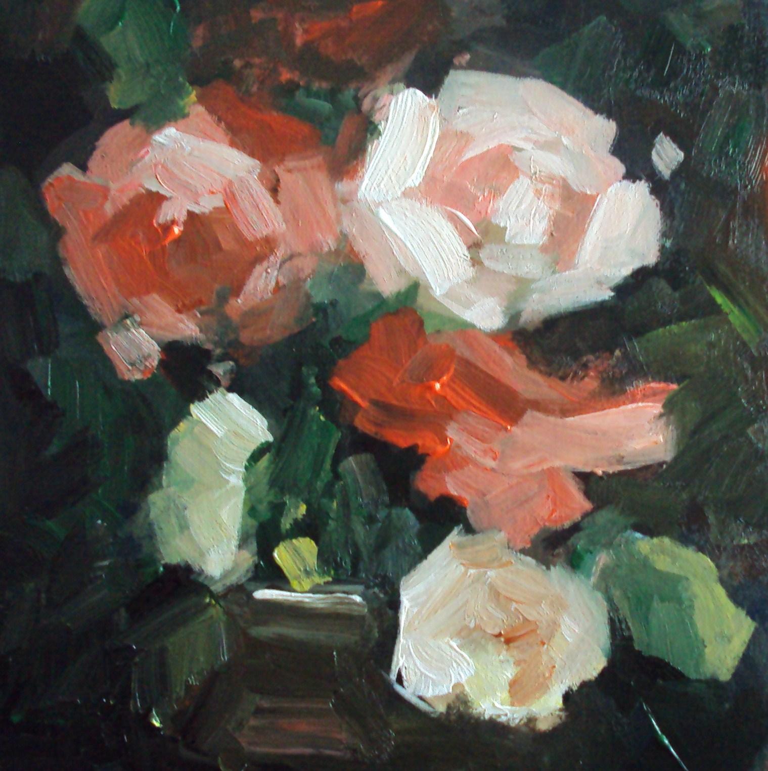 """""""roses"""" original fine art by Parastoo Ganjei"""