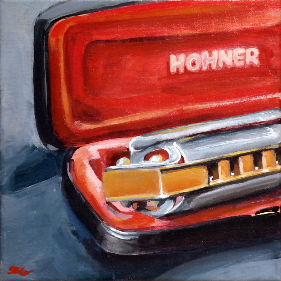 """1321 Blues Harp"" original fine art by Dietmar Stiller"