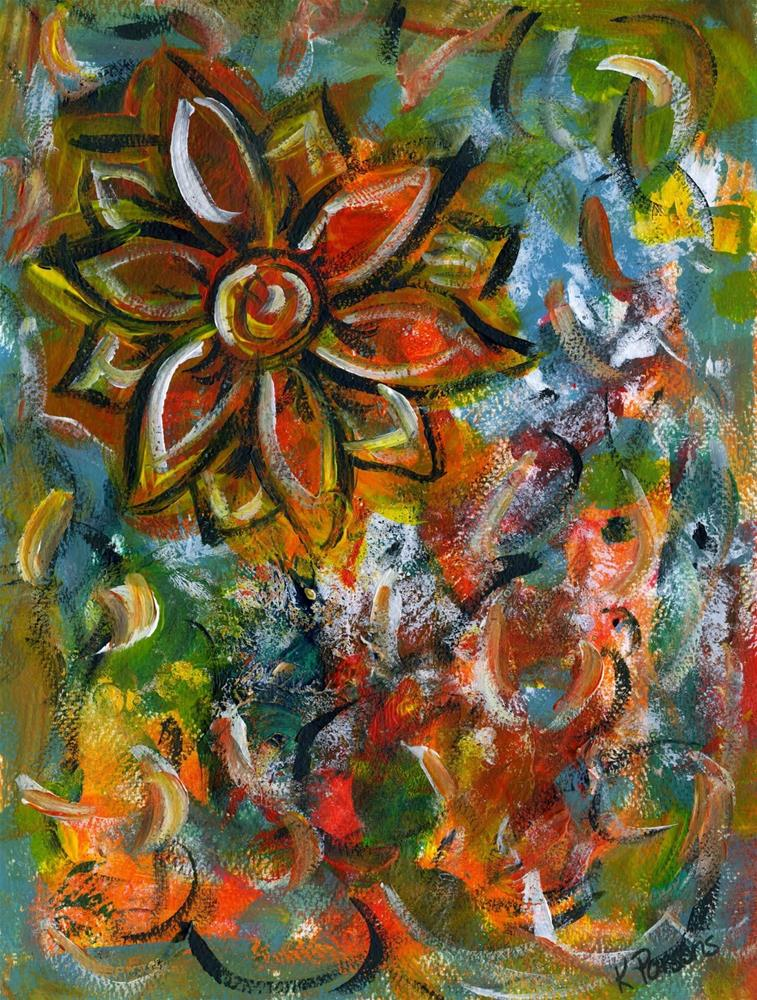 """Flower in the Sky"" original fine art by Kali Parsons"