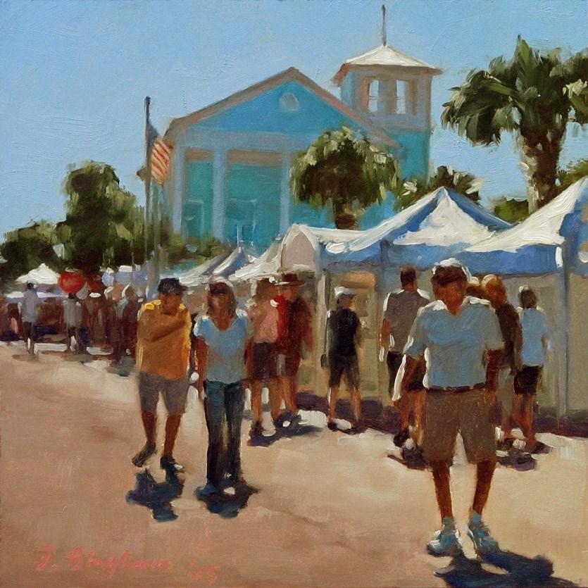 """Small Town Festival"" original fine art by Joanna Bingham"