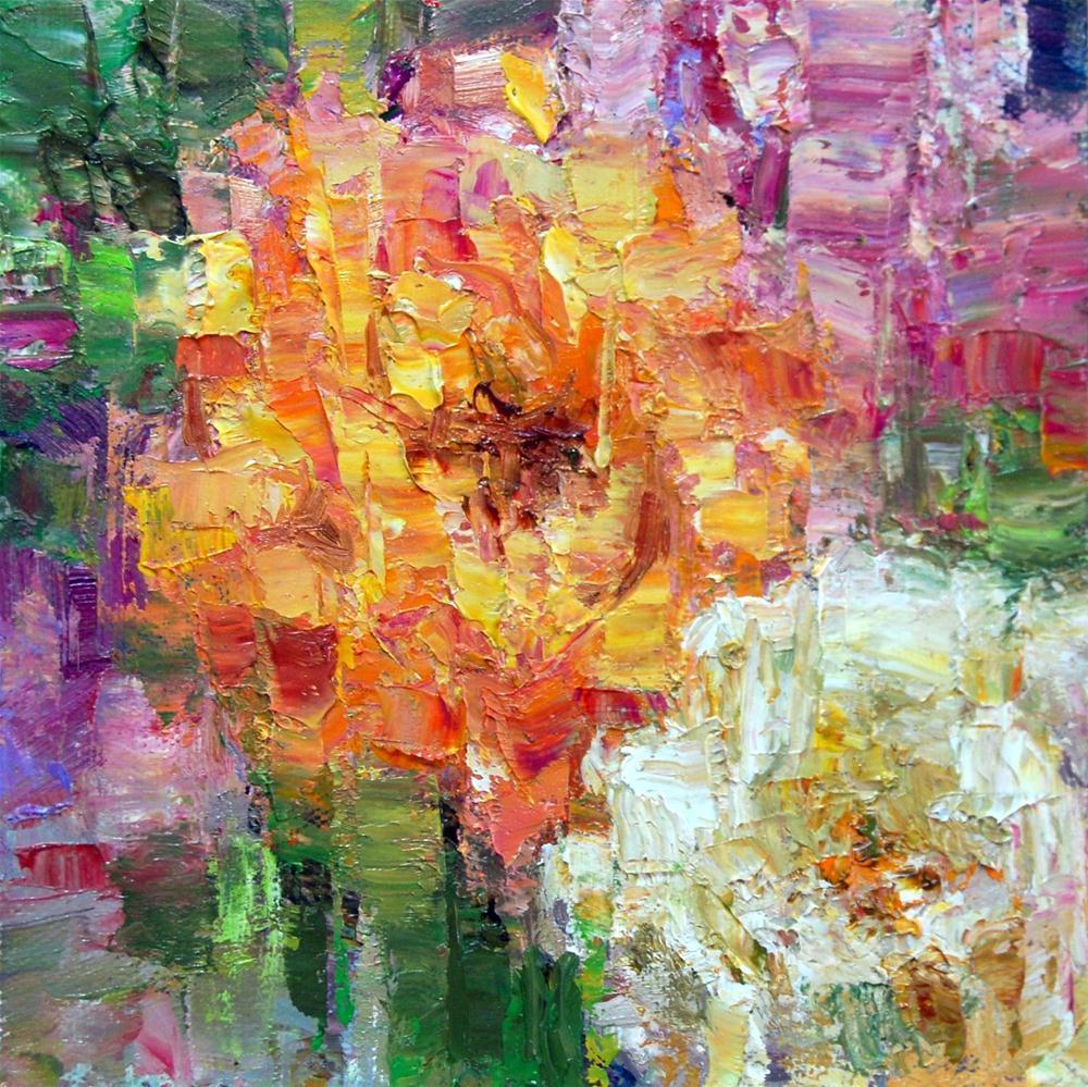 """""""Fracturing the Floribundas and Great Tip"""" original fine art by Julie Ford Oliver"""