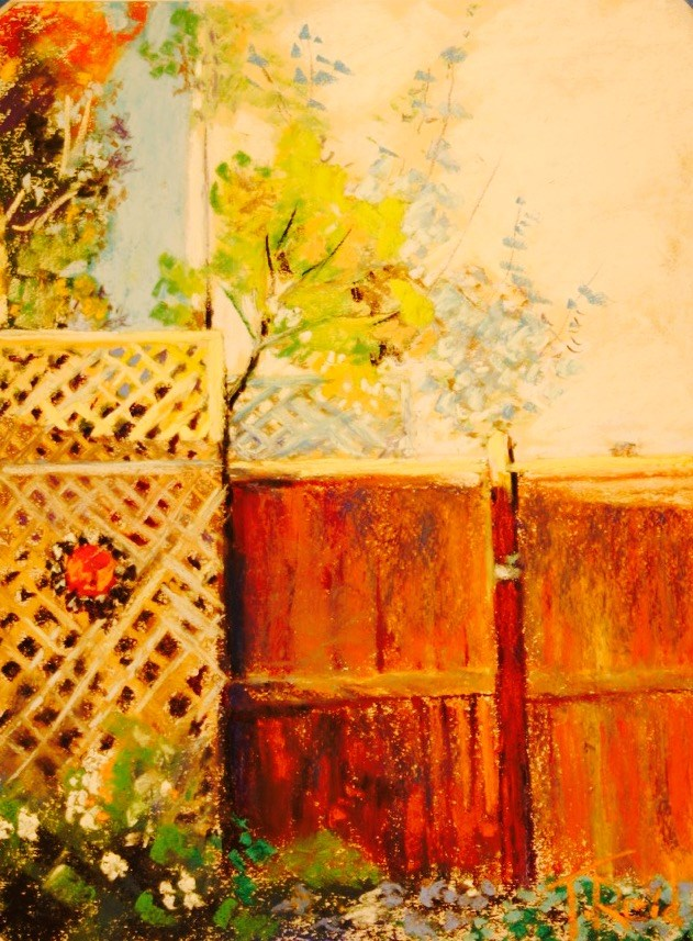 """Lattice Fence"" original fine art by Toby Reid"