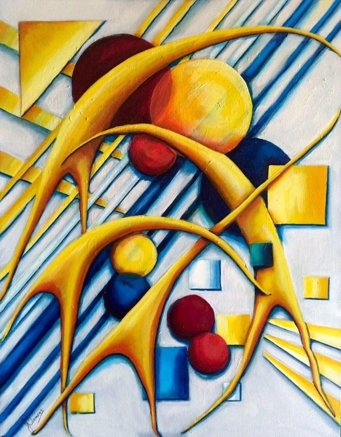 """""""Dance of the cranes"""" original fine art by Jolynn Clemens"""