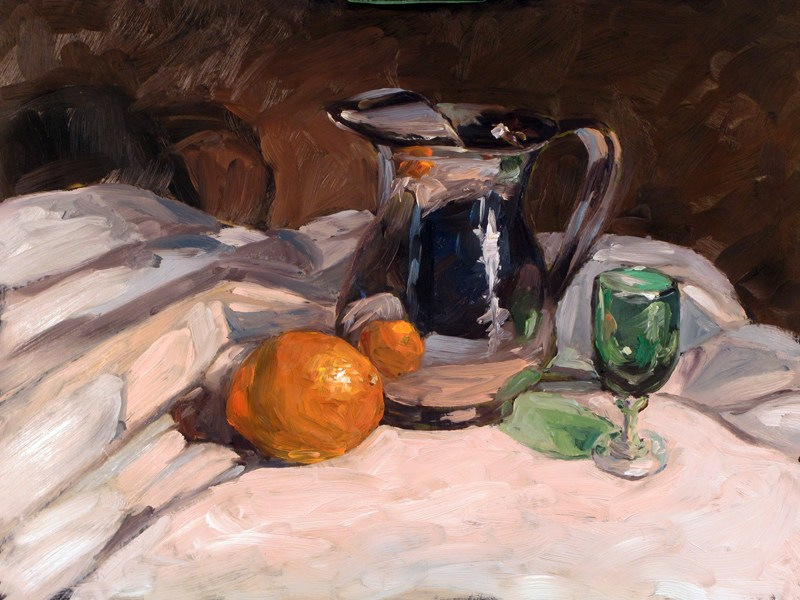 """Silver water jug"" original fine art by Dave Froude"