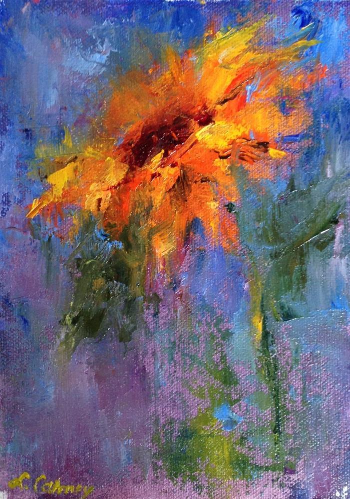 """Sunflower II"" original fine art by Linda Carney"