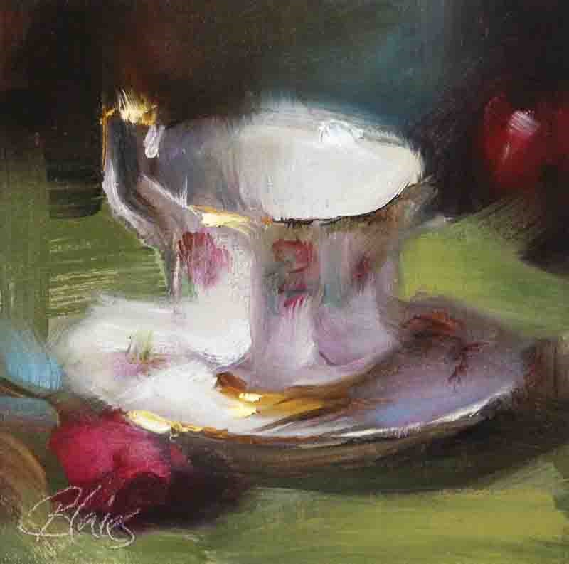 """Teacup and Saucer"" original fine art by Pamela Blaies"