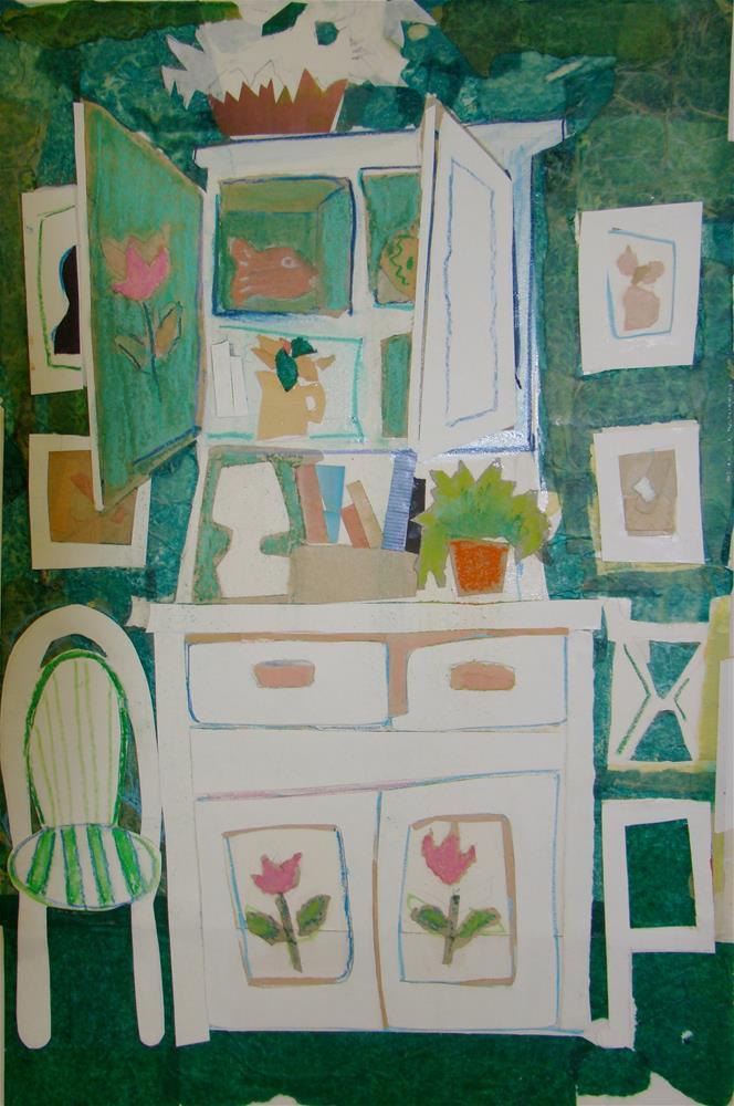 """Florida house"" original fine art by meribeth coyne"