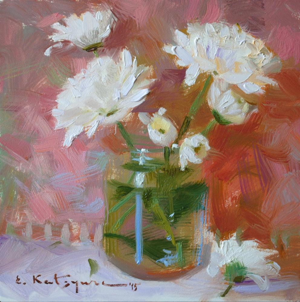 """April Flowers"" original fine art by Elena Katsyura"