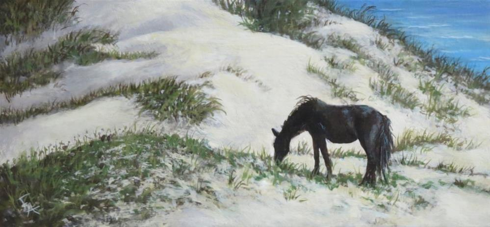 """Grazing the Dunes"" original fine art by Elizabeth Elgin"
