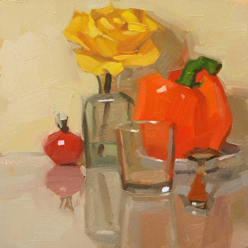 """Sitting Still"" original fine art by Carol Marine"