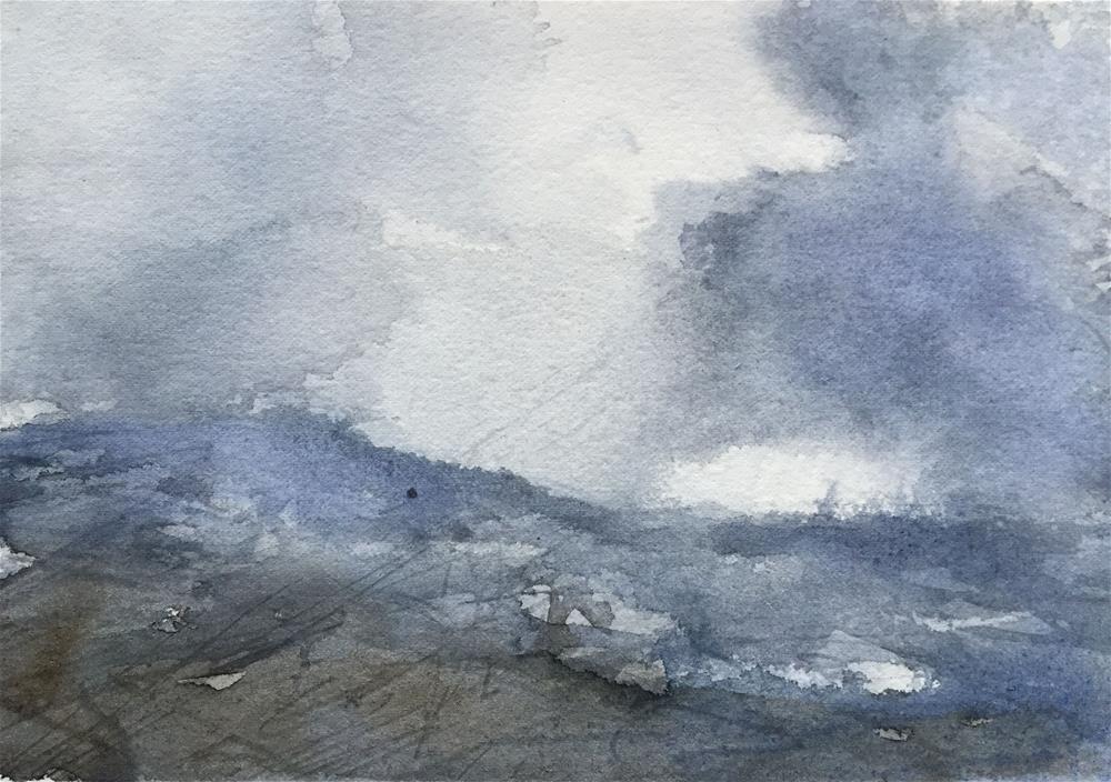 """HILLY LANDSCAPE"" original fine art by Ferran Llagostera"